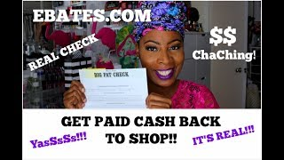 MY eBates.com CASH BACK Shopping Experience | IT REALLY WORKS!!, Got My FIRST CHECK!!