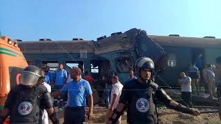 EGYPT || Trains crash kills 40 and wounds 50 others