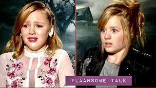 BREAKS DOWN IN TEARS during interview... How Annabelle Creation actors got scared