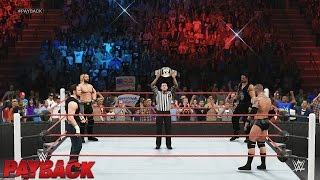 WWE Payback 2015 - Seth Rollins vs Randy Orton vs Roman Reigns vs Dean Ambrose ( EPIC MATCH )