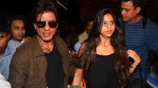 Shahrukh Khan Spotted With Daughter Suhana Khan At The Airport