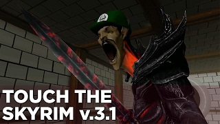 Griffin and Nick Play a Fun New Mario Game - Touch the Skyrim Ep. 10