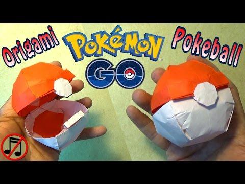 Origami Pokeball that Opens! (no music)