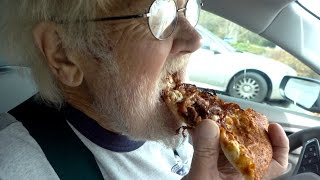Angry Grandpa - The Little Caesars Smokehouse Pizza!