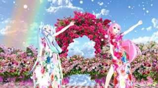 MMD Tda Miku Luka magnet Rose Garden