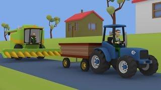 Tractor For Kids Combine-Harvester   Fairy tales - Maize   Farm Work   Bajki Dla Dzieci Traktory