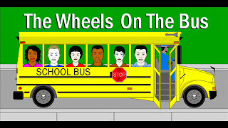 THE THE WHEELS ON THE BUS go round and round barney lyrics sing along school bus