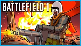 Battlefield 1 Funny Moments! - Horse Collateral, Flamethrower, Chuck Norris, and Funny Fails!