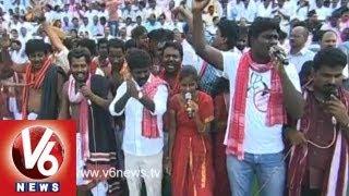 Mallepally Laxmaiah || Telangana songs At Sakala Janaberi Sabha || V6 News