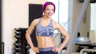 Go on the set of Sasha Banks' Muscle & Fitness Hers cover shoot