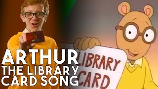 90s PBS Arthur - the Library Card Song In Real Life | a Working with Lemon