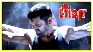 Bheema Tamil Movie Scenes   Vikram warns Trisha   Prakash Raj is stabbed by goons   Raghuvaran