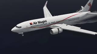 Plane Crash In Micronesia, Air Niugini Boeing 737 Sinks in Water [XP11]
