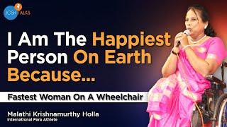 Fastest Woman on a Wheelchair - Malathi Krishnamurthi | Josh Talks Bangalore
