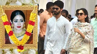 EMOTIONAL Shahid with Wife Mira Rajput Breaks Down Seeing Sridevi