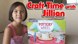 MY VERY OWN POTTERY WHEEL! Craft Time with Jillian