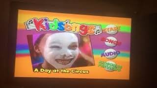 Kidsongs - A Day at the Circus DVD Menu Walkthrough