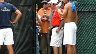Rafa Practice Cincinnati August 19, 2009