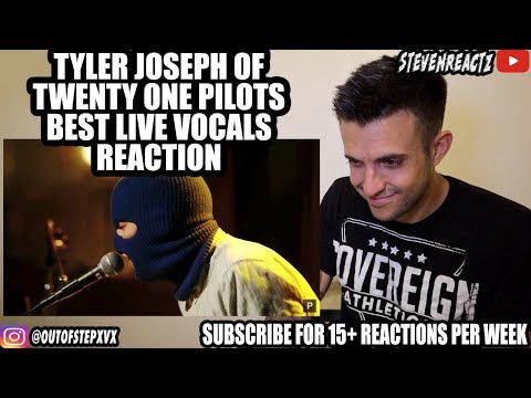 Tyler Joseph of Twenty One Pilots Best live performances REACTION