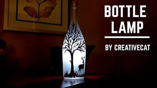 Bottle Lamp/Bottle Art/ Bottle decoration/Bottle Craft