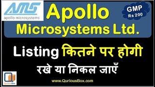 Apollo microsystems Listing gain | Apollo microsystems GMP | Apollo microsystems IPO| Apollo GMP