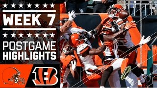 Browns vs. Bengals (Week 7) | Game Highlights | NFL