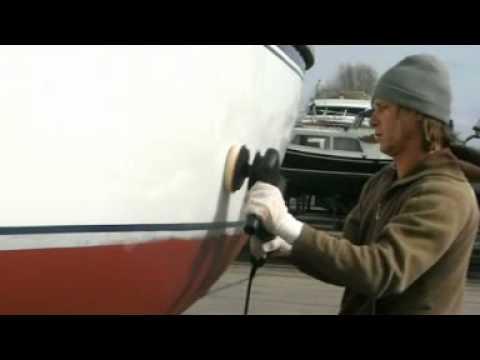 Aanslag polyester boot verwijderen
