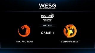 WESG 2017 | TNC eSports vs Signature Trust | Game 1