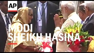 মোদির বাংলাদেশ প্রধানমন্ত্রী শেখ হাসিনা স্বাগত