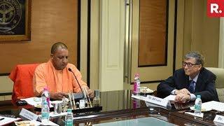 Bill Gates Meets Uttar Pradesh CM Yogi Adityanath