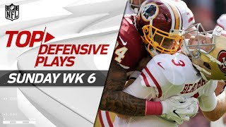 Top Defensive Plays from Sunday | NFL Week 6 Highlights