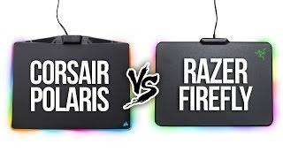 Corsair Polaris vs Razer Firefly - RGB Mousepad Comparison
