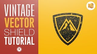 VINTAGE VECTOR LOGO | How To Add Texture In Illustrator | Satori Graphics Illustrator Tutorial