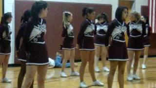 boy looking up cheerleaders skirts