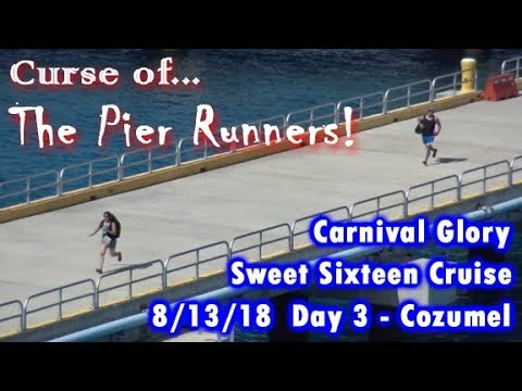 Curse of the Pier Runners Carnival Glory Day 3 Cozumel 8 13 18. With a Horn Battle