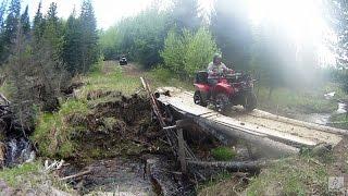 ATV Trail Riding in Saskatchewan - Delaronde to Nova (Honda-Rollei-ATV Trail)