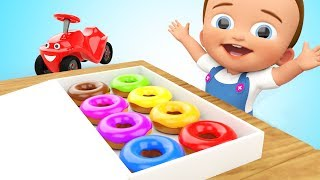 Learn Colors with 3D Donut for Toddlers Children Babies - Colours for Kids Videos - Super Crazy Kids