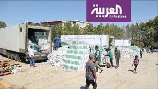 مساعدات سعودية للاجئين سوريين وفلسطينيين