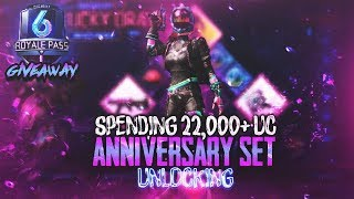 PUBG Mobile First Anniversary Set Crate Opening | Season 6 Giveaway | SamuelGamie