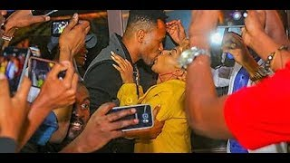 Size 8 KISSES DJ MO in Public and Kenyans Can't Handle the Public Show of Romance