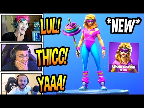 Xxx Mp4 STREAMERS REACT TO NEW AEROBIC ASSASSIN THICC MULLET MARAUDER SKINS Fortnite FUNNY Moments 3gp Sex