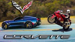 California - Chevrolet Corvette C7 vs MaxWrist BMW S1000RR