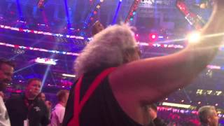 Roman Reigns' Hall of Fame father Sika goes crazy at Wrestlemania