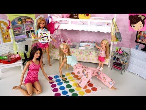Xxx Mp4 Barbie Bunk Bed Pink Bedroom Evening Routine SLEEPOVER Slumber Party Play Toys 3gp Sex