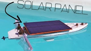Solar panel Boat for Life Rescue  • how to Make it