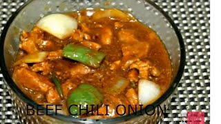 Bangladeshi Chinese Restaurant Recipe-Beef Chili Onion