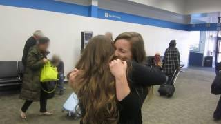 TWINS REACTION - Sisters reunion after 18 months apart