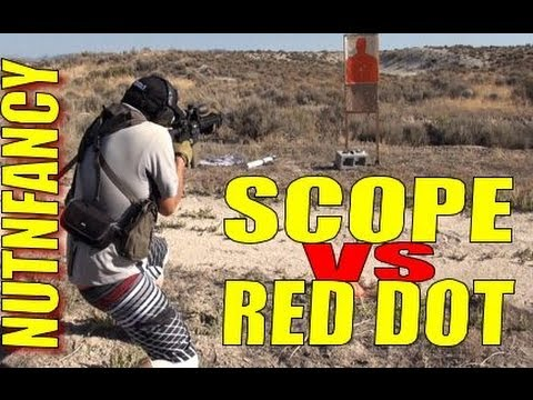 Scope vs Red Dot Real Shooting by Nutnfancy