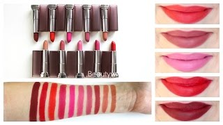 Maybelline Creamy Matte Lipstick || Review & Lip Swatches