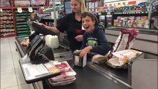 Cashier Makes Boy With Cerebral Palsy's Day When She Has Him Scan Groceries